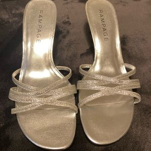 New Rampage Frankie 9 Silver Glitter Heels